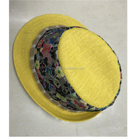 Custom Adults Newest style beach Panama fedora straw hat unisex short brim paper straw hats wholesale