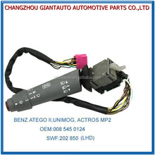 HEAVY TRUCK COMBINATION SWITCH FOR BENZ ATEGO II/UNIMOG/ACTROS MP2 OEM:0085450124/008 545 0124 SWF:202850/202 850