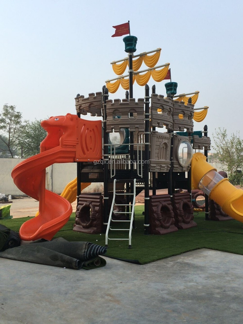 Outdoor design playgrounds play kids playground children outdoor playground toys QX-T004
