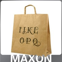 recycled kraft paper bag ,waterproof paper bag,paper bag manufacturer with logo print for shopping