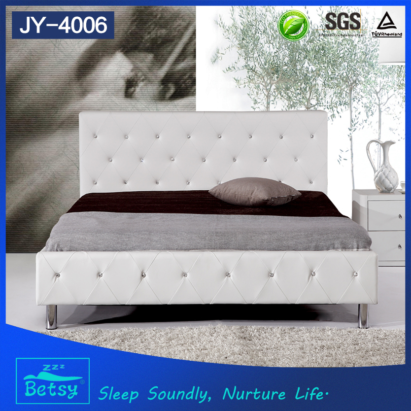 New fashion plywood double bed designs durable and comfortable