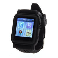 "BR607 1.4"" LCD Screen 8GB MP3 MP4 Watch Music Video Player Photo Calendar + Earphone"