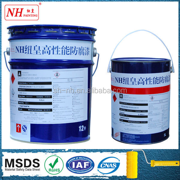 Water-based iron oxide red epoxy MIO paint