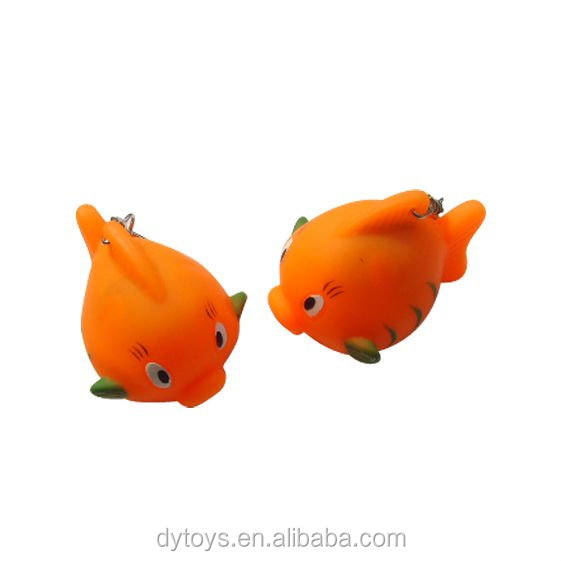 Cute fish shape keychain for promotion