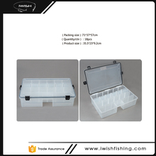 Adjustable Compartments Seal Gasket Clear Plastic Waterproof Fishing Tackle Box