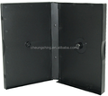 elegant pp plastic black and thick dvd cases for12discs