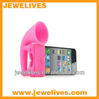 Hot no power silicone speaker for iphone