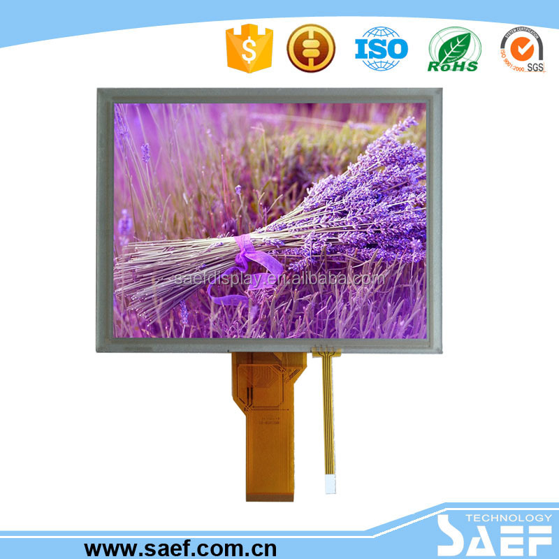 resistive touch screen with 8 inch lcd screen 800x600 built-in RGB interface