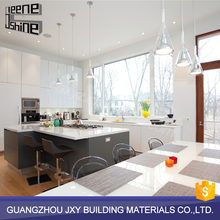New Chinese style lacquer kitchen cabinet in futuristic styles,white pvc laminate kitchen cabinet door