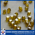 regular shape high hardness monocrystal yellow diamond synthetic diamond