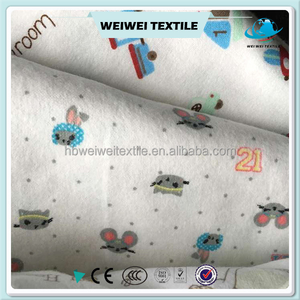 Low price Cheap flannel fabric textile,printed double-sided flannel fabric for baby,wholesale custom flannel fabric