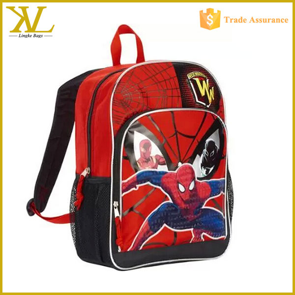 Spiderman 16'' Deluxe Front Pocket school Backpack,cartoon child school bag