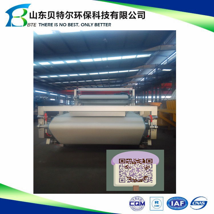 Belt filter press dewatering waste water