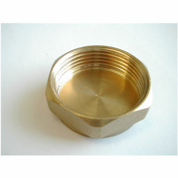 "3/8"" Threaded Brass Cap Expressing to your doorstep"