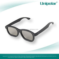 classical style Plastic Linear Polarized 3D glasses for movie