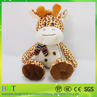 Grey giraffe plush toy with high quality from nanjing