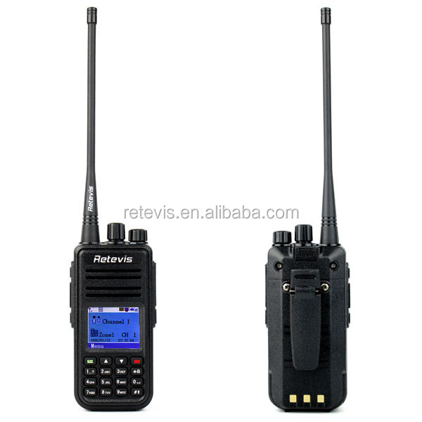 2016 Retevis VHF Radio 136-174MHz 1000CH DMR walkie talkie Digital with Direct US, EU, UK and AU power adaper plug