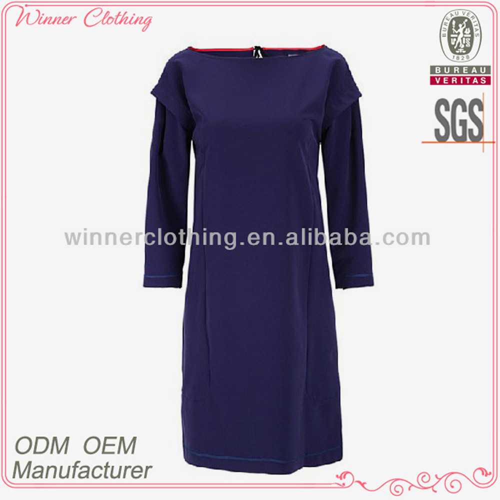 Elegant fashion design long sleeve dresses names of ladies clothing brands