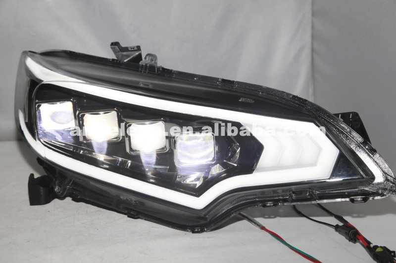 For HONDA Fit Jazz Headlight Full LED Head Lamp 2015 Year Black Housing