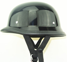 Black colour German Style Polo Novelty Motorcycle Half Helmet total 6 size