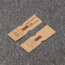 Custom size kraft paper hang tags with cotton rope