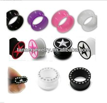 Wholesale body jewelry Free sample Silicone Ear Plugs Body Piercing Jewelry