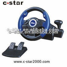 2017 3 in 1 cheap racing game steering wheel for PS1/PS2/PC video game