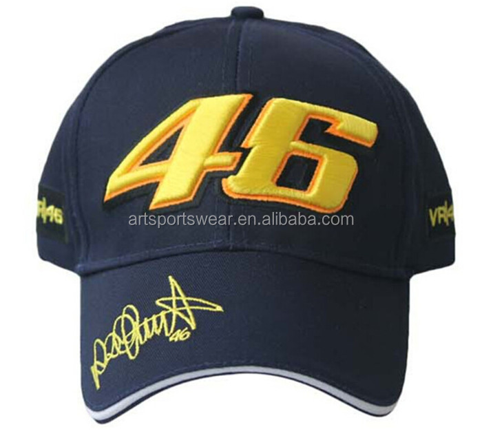 Rossi 46 Embroidery Motorcycle Racing Sport Baseball Cap For Men