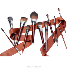 Kiss beauty makeup wholesale beauty supply beauty products makeup kits private label cosmetics 11pcs wooden makeup brushes set