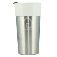 400ml/14oz starbucks travelling ceramic mug with stainless steel base and pleastic lid