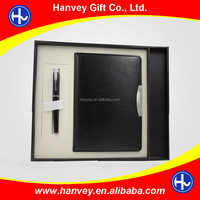 Promotion notebook and pen office business beauty classical traditional gift set for men