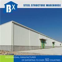 Prefabricated construction design light steel depot