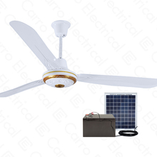 Energy-saving 56 inch Solar power 12V DC motor Ceiling Fan