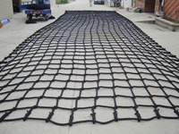 Indoor or outdoor black Nylon scrambling climbing cargo net