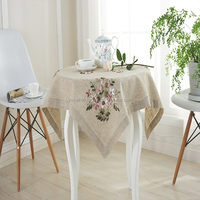 Wholesale stock design 100% linen playing card table cloth
