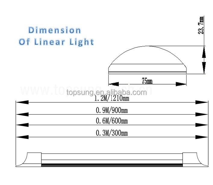 China manufacturer 40w suspended led linear light 1200mm led batten fitting 4feet