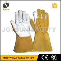cow grain palm welding gauntlet gloves with CE
