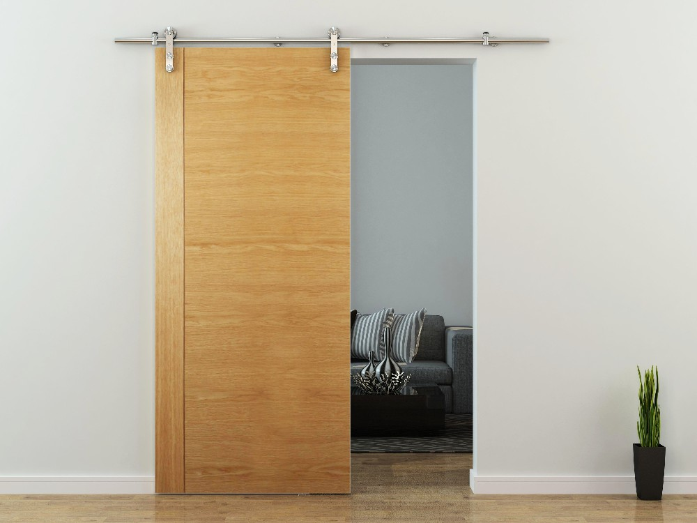 Stainless Steel Soft Close Wood Barn Door Hardware Sliding