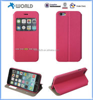 2015 new stand flip pu sleep function leather phone case for iphone 6