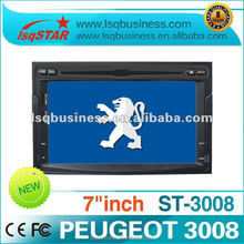 LSQ star Central Multimidia peugeot 3008 car dvd With 3G, Navi, Wince 6.0/3G, Hot selling.