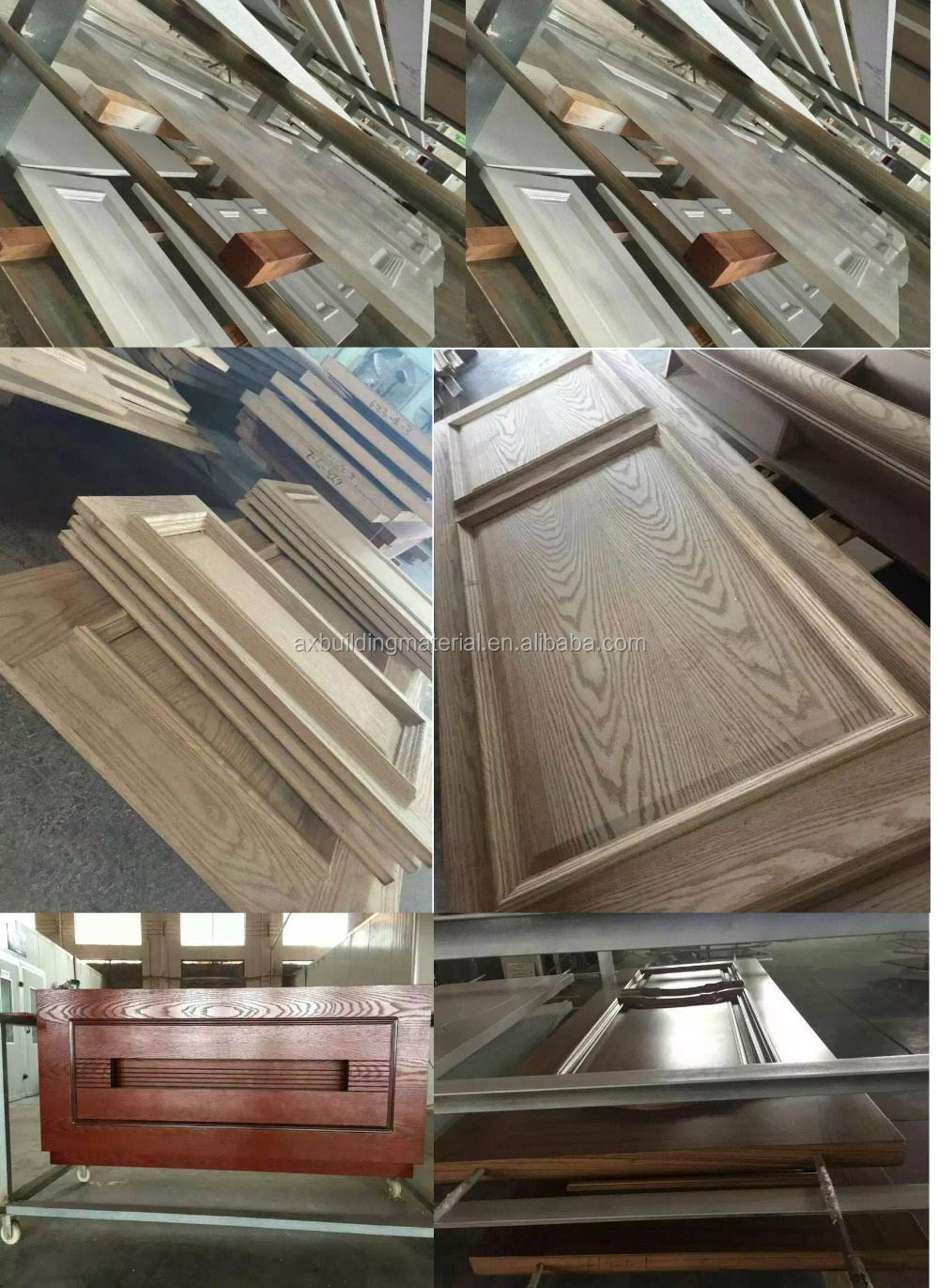 European Style 100% Real Wood Door from China