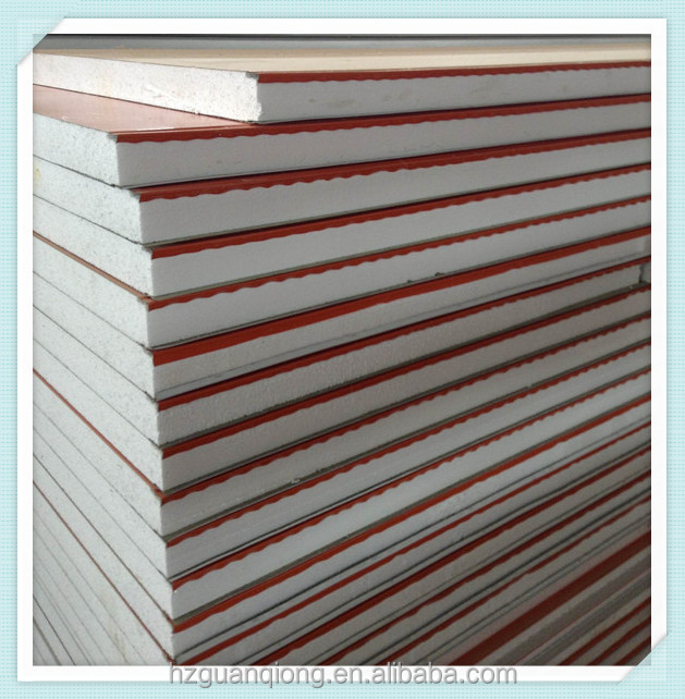 aluminum ceiling panel/ Prefabricated Houses1000mm width smooth Expanded Polystyrene Sandwich Panel
