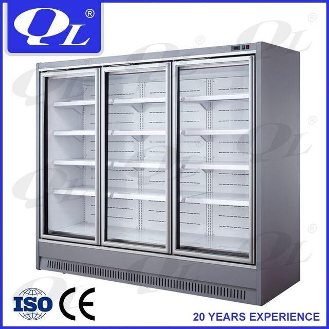 Remote Multideck Display Fridge Large Open Deck Chillers For Supermarket cosmetic refrigerator