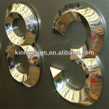 Stainless steel 3D outdoor led number