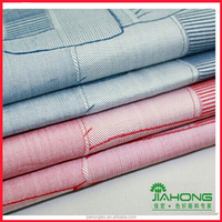 100 cotton yarn dyed woven jacquard shirting fabric