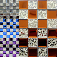 glass tile crystal standerd TV background mosaic