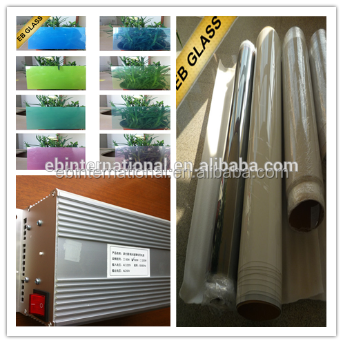 customized cut switchable window film,1.4m white on/off electric film EB GLASS BRAND