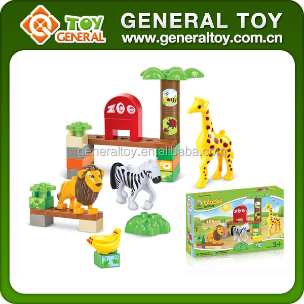 30PCS ABS Zoo And Animal Children Plastic Building Blocks