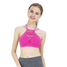 Wholesale Top Quality Seamless Push Up Thin Cross Strap Sexy Yoga Bra