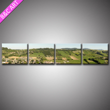 New 4 Panels Countryside Natural Scenery Printing Art Canvas Print For Living Room